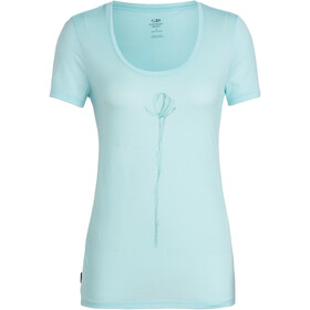 Icebreaker Tech Lite Solo SS Scoop Top Women, aqua splash